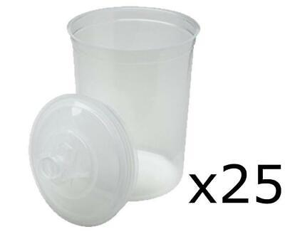 3M 16325 PPS 25 Large Lids & Liners 850ml 125 Micron Filters Plus 10 Plugs
