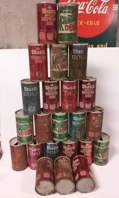 Vintage Steel Flattop Soda Pop Cans Mixed Variety Lot #3 - 23 Cans