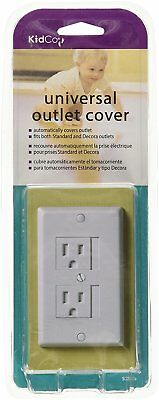 KidCo Universal Automatic Outlet Safety White Cover Fits Standard Decora Outlet