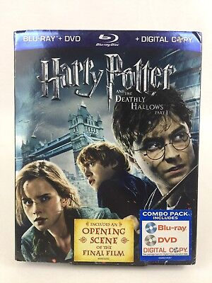 Harry Potter and the Deathly Hallows Part 1 Blu-ray / DVD / Digital Copy 3 Discs