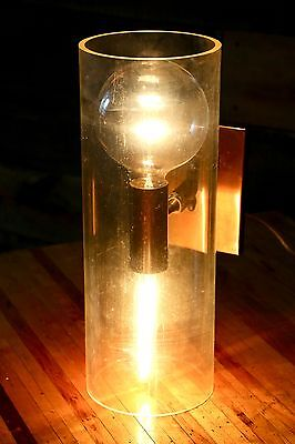 Vintage Underwriters Laboratories Mid Century Lucite Wall Sconce Porch Light