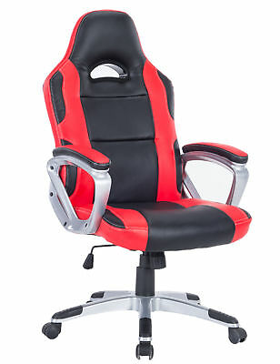 Executive Racing Gaming Chair High Back PU Leather Swivel Computer Desk Seat