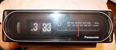958cd61c06bf3 VINTAGE PANASONIC MODEL RC-6015 Flip Alarm Clock Back To The Future ...