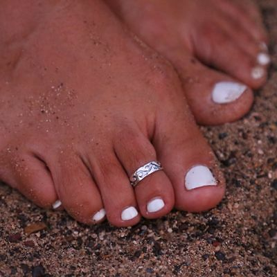 Charming Adjustable 925Silver Plated Toe Ring Foot Jewelry Beach Chic Decoration