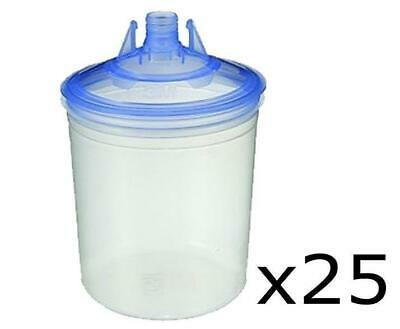 3M 16301 PPS Half Box 25 Lids & Liners 650ml 125 Micron Filters Plus 10 Plugs