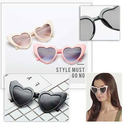 Love Heart Shaped Cat Eye Sunglasses Women Lady Fashion Brand Designer Vintage
