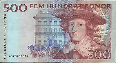 Sweden 500 kronor 1994  P 59b  Circulated Banknote