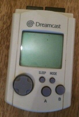 OFFICIAL OEM WHITE VMU LCD MEMORY CARD Sega Dreamcast System (used as is)