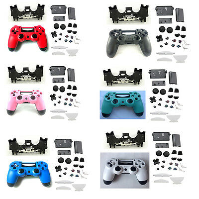 Full Housing Shell Case Button Kit Sets For DualShock PS4 Controller Body Parts