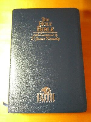 New Open Bible; NKJV, Large Print, Study & Red Letter Edition, Leather - Nice!
