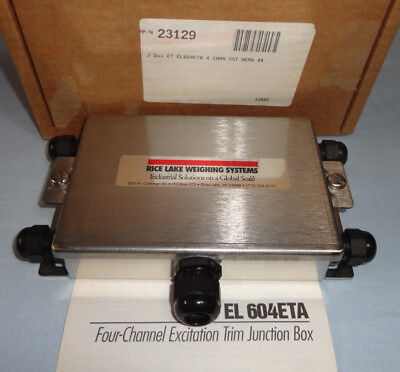Rice Lake Weighing Systems 23129 4 Channel EL604ETA Stainless Steel NEW