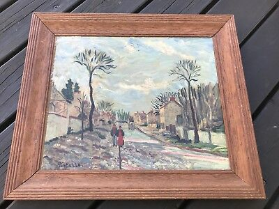 LATE 19th CENTURY OIL PAINTING BY CAMILLE PISSARRO  MUSEUM OF MODERN ARTS PARIS