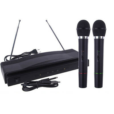 Karaoke Set Wireless Microphone System Dual Handheld 2 *Mic  + Cordless Receiver