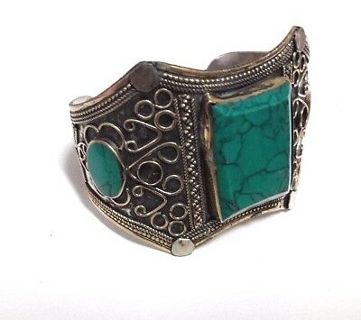 Rare Old Islamic Stunning Bracelet Unique Persian Turkish Green Agate Bangle