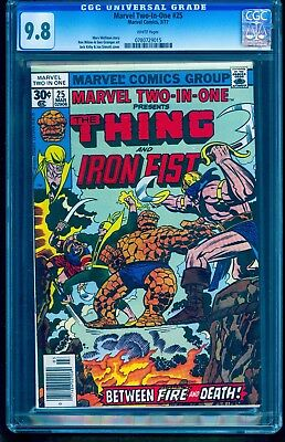 MARVEL TWO-IN-ONE  #25 CGC 9.8 (White Pages) JACK KIRBY IRON FIST (1 of only 6)