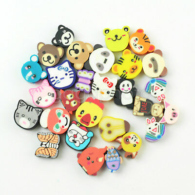 Wholesale 100Pcs Mixed Fimo Polymer Clay Animals Spacer Beads 10x9mm And 10x10mm