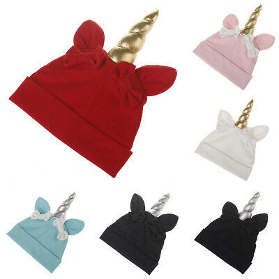 Baby Boys Girls Knitted Winter Beanie Warm Hat Unicorn Bowknot Cap Intriguing