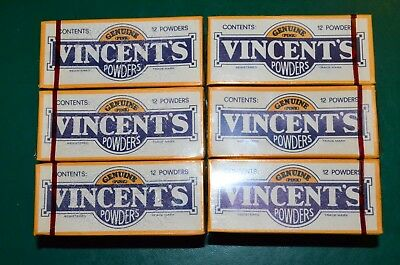 Vincents Powders Boxes, Lot Of 6, Collectable Australian Ephemera