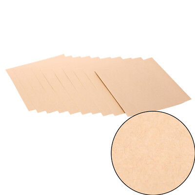 100sheets A4 Brown kraft paper stickers Self Adhesive Inkjet Laser printing ^