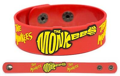 THE MONKEES Rubber Bracelet Wristband Headquarters Head Instant Replay