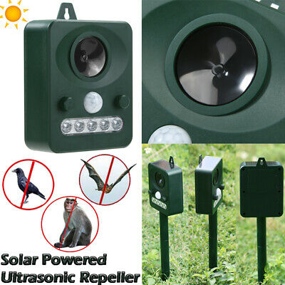 LED Indicator Ultrasonic Repellent Solar Powered Pest Repeller Bat Bird Animal