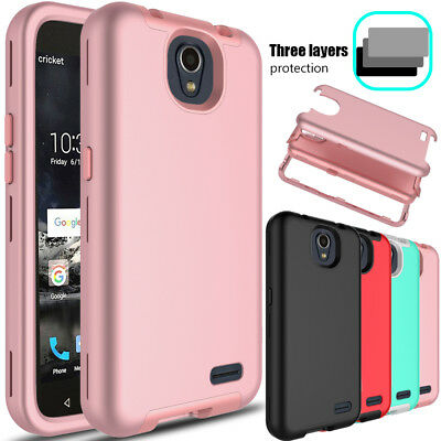 For ZTE Maven 3 Z835/Overture 3 Hybrid Rubber Hard Armor Impact Phone Case Cover