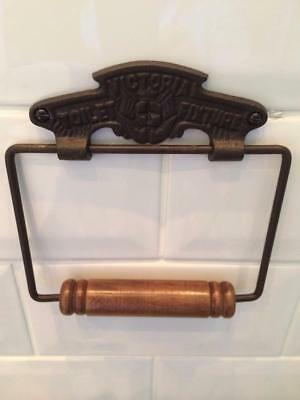 Iron Victoria Vintage Toilet Roll Loo Paper Holder Retro Bathroom Railway WC New