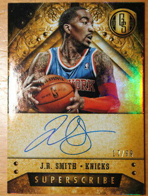 2013-14 Gold Standard Superscribes J.R. Smith auto 17/99 NY Knicks