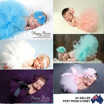 Baby Girl Newborn Photo Costume Photography Prop Outfit Tutu Skirt Headband