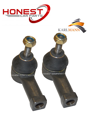 For VAUXHALL MERIVA 2003-2010 FRONT OUTER TRACK ROD ENDS X2 Pair By Karlmann