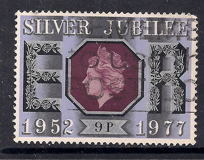 GB 1977 QE2 9p Silver Jubilee Used Stamp SG 1034.( M856 )