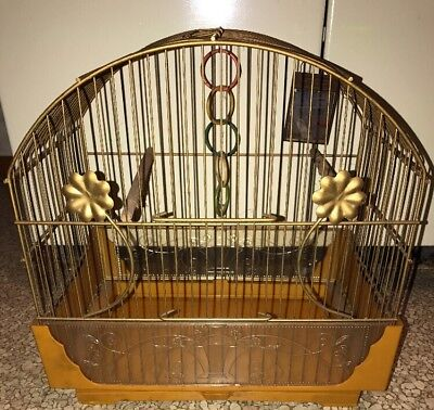 Vintage Pacific Cage And Furniture Co Bird Cage Metal Large Plus Accesories