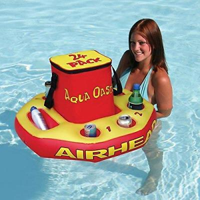 Aqua Oasis Floating Beach Pool Jacuzzi Watersports Drinks Inflatable Cooler
