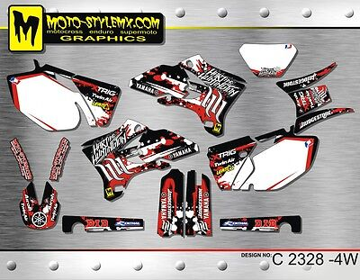 Yamaha WR250f WR450f 2005 up to 2006 graphics decals kit Moto StyleMX