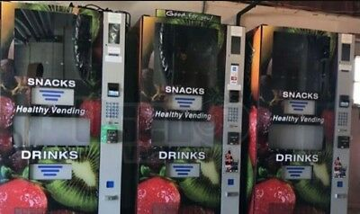 3 HEALTHY VENDING machines HY900 COMBO SNACK SODA VENDING WITH CARD READER eport