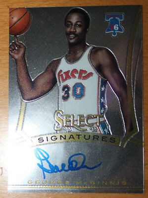 2013-14 Panini Select Signatures 13 George McGinnis Philadelphia 76ers Auto