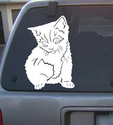 Vinyl Decal Cat 6 inch Vinyl Sticker for car home truck animal pet lovers 10a