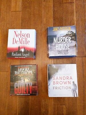 4 of the best known authors Audio Book Lot on CD