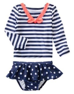 NWT Gymboree SWIM SHOP Sailor Rash Guard SET 2T Toddler  Girls