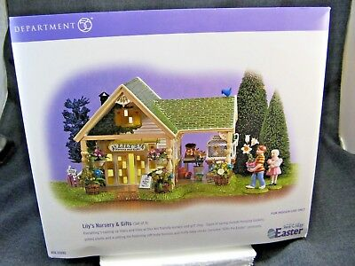 Department 56 Snow Village Easter Lily's Nursery and Gifts 56.55095