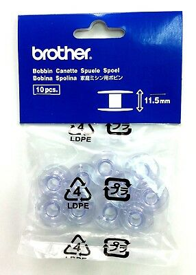 Brother Genuine Domestic Sewing Machine Bobbins (pack of 10 - 11.5mm Depth)