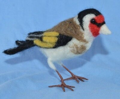 Needle felting Kit for Goldfinch bird free standing ornament collectible gift