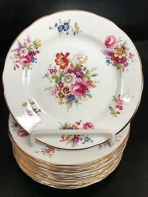 12 Vtg. Hammersley Signed Howard Minuet  Salad Plates 8 2/8""
