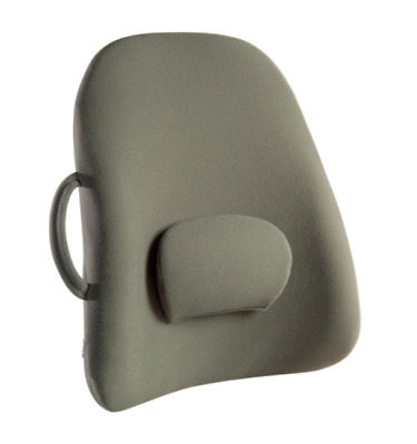 Obusforme Lowback Backrest Support, Gray - Supports Your Back! NEW! #LB-GRY-CHCM