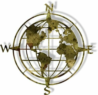DXF CNC dxf for Plasma Compass Globe Man Cave Home  Wall Art Ocean Beach
