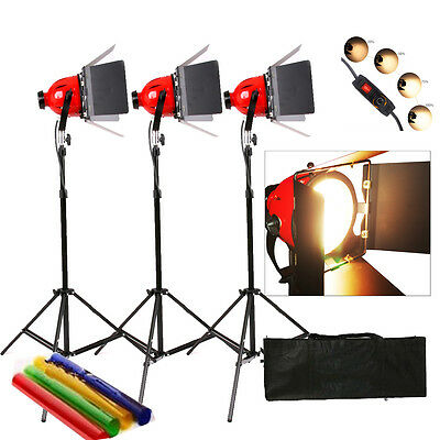 Dimmer 3X Tungsten 800W Redhead Red Head Video Studio Continuous Light Focus Ear