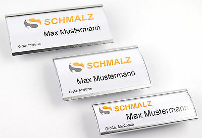 High-Quality Name Tag Made of Anodized Aluminum Metal Extra Strong Magnet