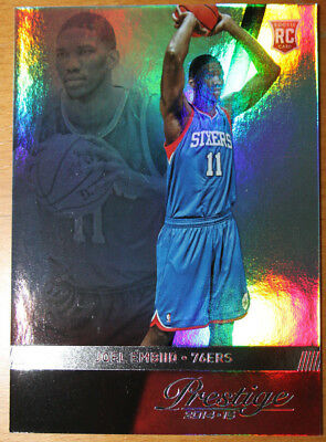 2014-15 Prestige Joel Embiid RC Base No. 163