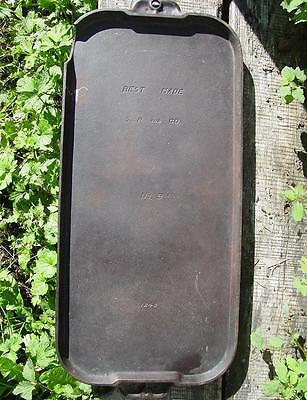Best Made S.R. and Co. No 9 Cast Iron Long Griddle 1249 Sears by Griswold 1920s