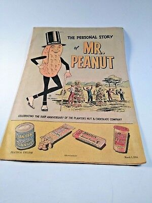 Vintage Planters Peanuts March 1956 The Personal Story Of Mr. Peanut Comic Book